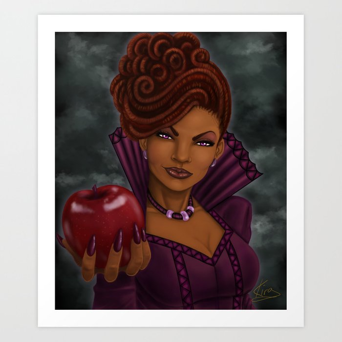 The Dreaded Queen Art Print by Kira The Artist