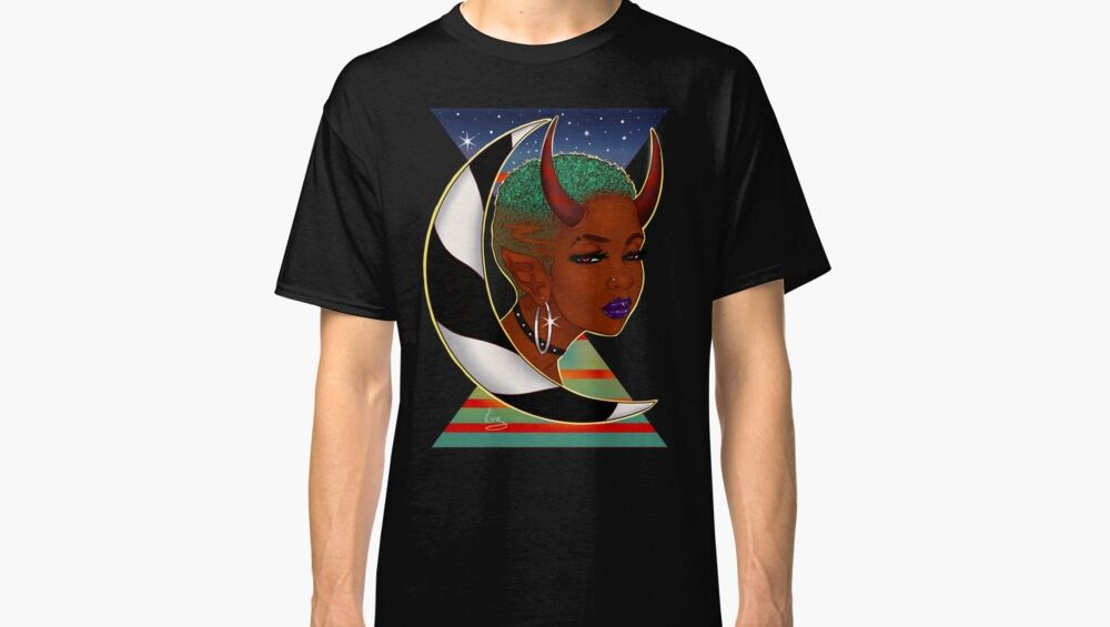 Crescent Demon Classic T-Shirt Designed by Shakira Rivers